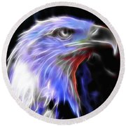 Round Beach Towel featuring the photograph Happy 4th Of July by Elaine Malott