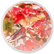 Happy Autumn Round Beach Towel
