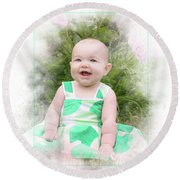 Happy Baby Round Beach Towel