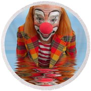 Happy Clown A173323 5x7 Round Beach Towel