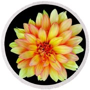 Happy Dahlia Round Beach Towel