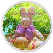 Happy Easter Everyone Round Beach Towel