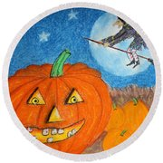 Happy Halloween Boo You Round Beach Towel