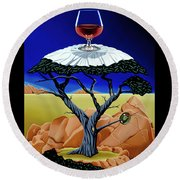 Happy Hour At The Midreal Cypress Round Beach Towel