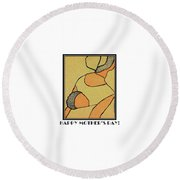 Happy Mother's Day 6 Round Beach Towel