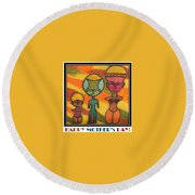 Happy Mother's Day 7 Round Beach Towel