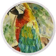 Happy Parrot Round Beach Towel