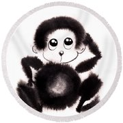 Happy Year Of The Monkey Round Beach Towel