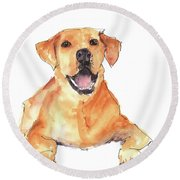 Happy You Are Here Round Beach Towel