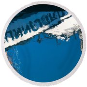 Harbor Blue Round Beach Towel