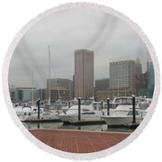 Harbor Happiness Round Beach Towel