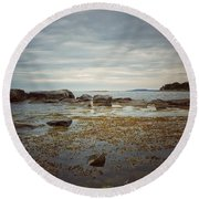 Harbor Round Beach Towel by Karen Stahlros