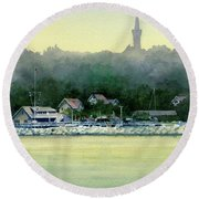 Harbor Master, Port Washington Round Beach Towel