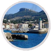 Harbor Of Cassis Round Beach Towel