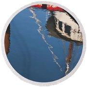 Harbor Reflections Round Beach Towel