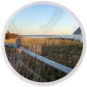 Harbor Shed Round Beach Towel