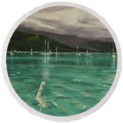 Harbor View Round Beach Towel