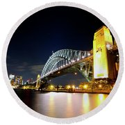 Harbour City Round Beach Towel