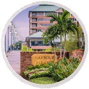Harbour Island Retreat Round Beach Towel