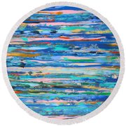 Harbour Lights- Large Work Round Beach Towel