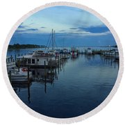 Harbour Nights Round Beach Towel