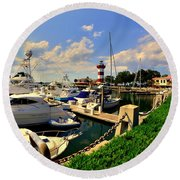 Harbour Town Marina Sea Pines Resort Hilton Head Sc Round Beach Towel