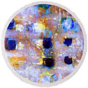 Round Beach Towel featuring the painting Hard Eight by Dominic Piperata