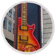 Hard Rock Cafe , Ny Round Beach Towel