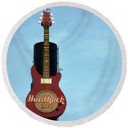 Hard Rock Cafe Round Beach Towel by Joseph Skompski