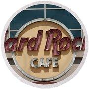 Hard Rock Cafe Round Beach Towel