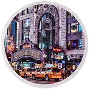Hard Rock Cafe Round Beach Towel by Paul Ward