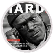 Hard Times Magazine Round Beach Towel