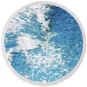 Hard Water Abstract Round Beach Towel by Menega Sabidussi