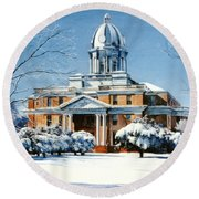Hardin County Courthouse Round Beach Towel