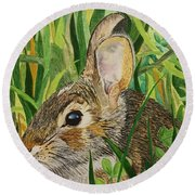 Hare's Breath Round Beach Towel