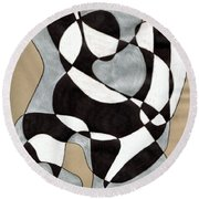 Harlequin Abtracted Round Beach Towel