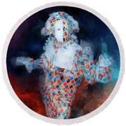 Harlequin Round Beach Towel by Jack Torcello