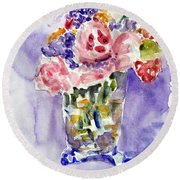 Harlequin Or Bright Side Of Life Round Beach Towel