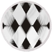 Harlequin Pattern Round Beach Towel