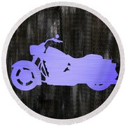 Harley Art Round Beach Towel