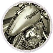 Round Beach Towel featuring the photograph Harley At Bentley's by Samuel M Purvis III