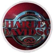 Harley Davidson 12 Round Beach Towel