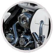 Round Beach Towel featuring the photograph Harley Davidson 15 by Wendy Wilton