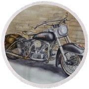 Harley Davidson Vintage 1950's Round Beach Towel