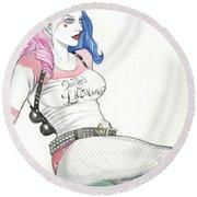 Harley Quinn Ss 1 Round Beach Towel