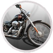 Harley Sportster Xl1200 Custom Round Beach Towel