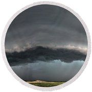 Harlowton, Montana, Supercell Round Beach Towel