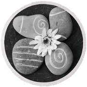 Harmony And Peace Round Beach Towel