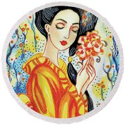 Harmony Flower Round Beach Towel