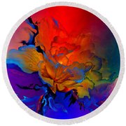 Round Beach Towel featuring the painting Harmony by Hanne Lore Koehler